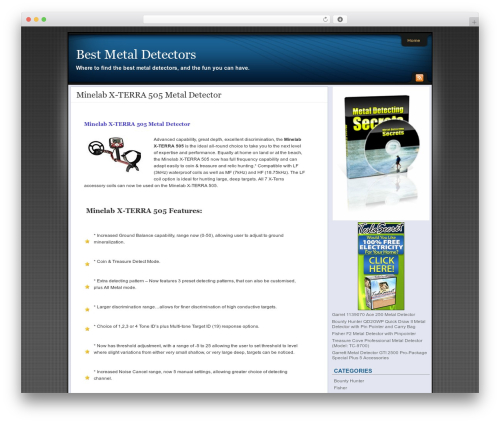 Theme WordPress Affiliate Internet Marketing theme - best-metaldetectors.com