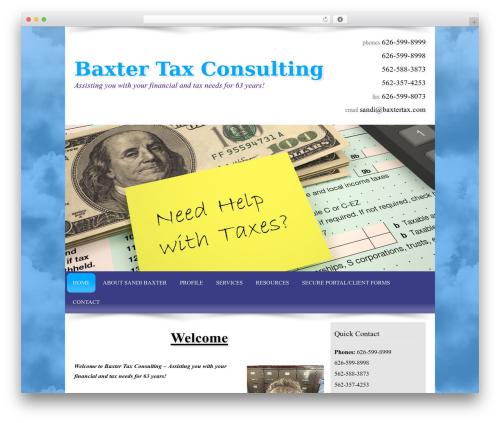 Theme WordPress Customized - baxtertax.com