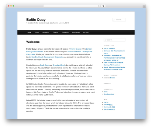 Twenty Eleven best free WordPress theme - balticquay.org.uk