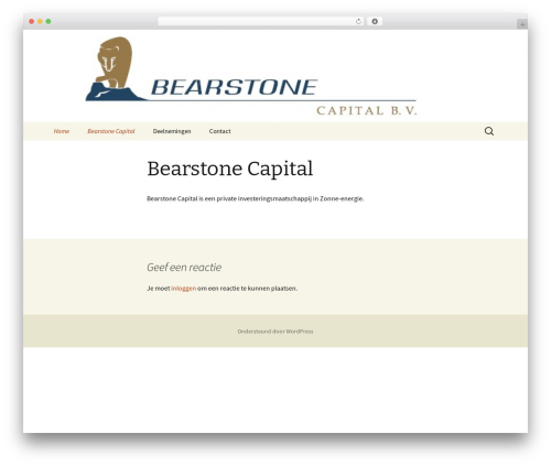 Twenty Thirteen best free WordPress theme - bearstonecapital.eu
