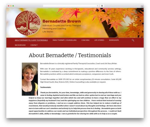WordPress theme Twenty Thirteen - bernadettebrown.com.au