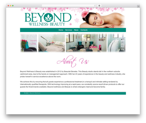 WordPress theme Weaver II - beyondwellness.co.za