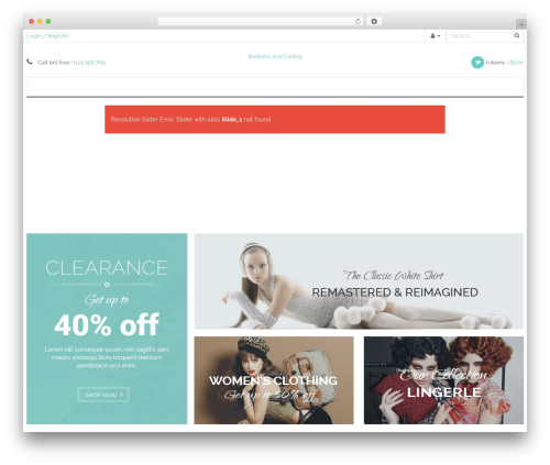 WP-Fitshop WordPress ecommerce theme - basketryandcaning.com