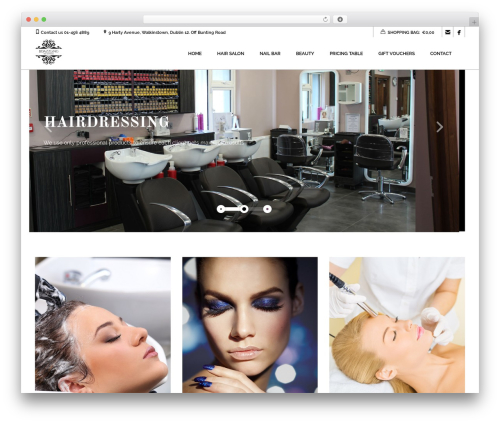 Coiffeur WordPress theme - bdazzling.ie