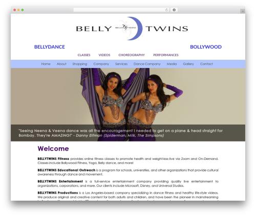 Custom Theme gym WordPress theme - bellytwins.com