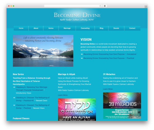 Divi WordPress theme - becomingdivine.com
