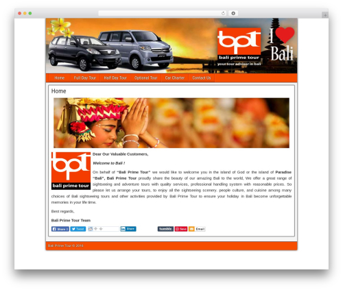 Frontier WordPress theme download - baliprimetour.com