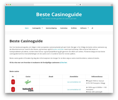 GeneratePress free WordPress theme - bestecasinoguide.com