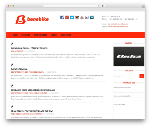 Headline News WordPress magazine theme - blog.benebike.com