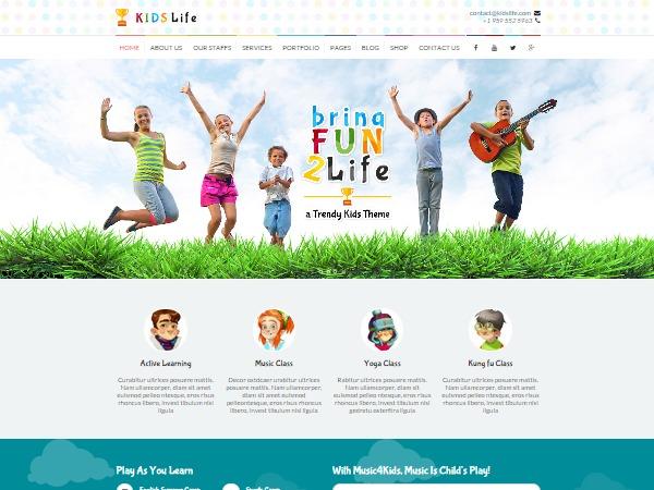 Kidslife WP template