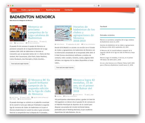 MesoColumn free WordPress theme - badmintonmenorca.com