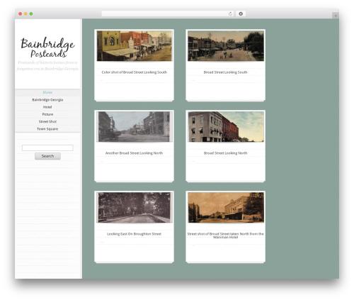 Notebook best WordPress theme - bainbridgepostcards.com