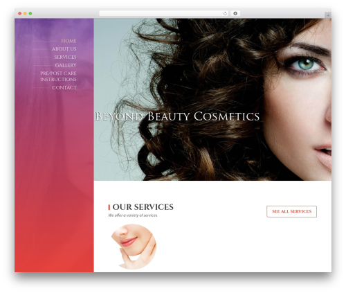 Template WordPress BeautySpot - beyondbeautycosmetics.com