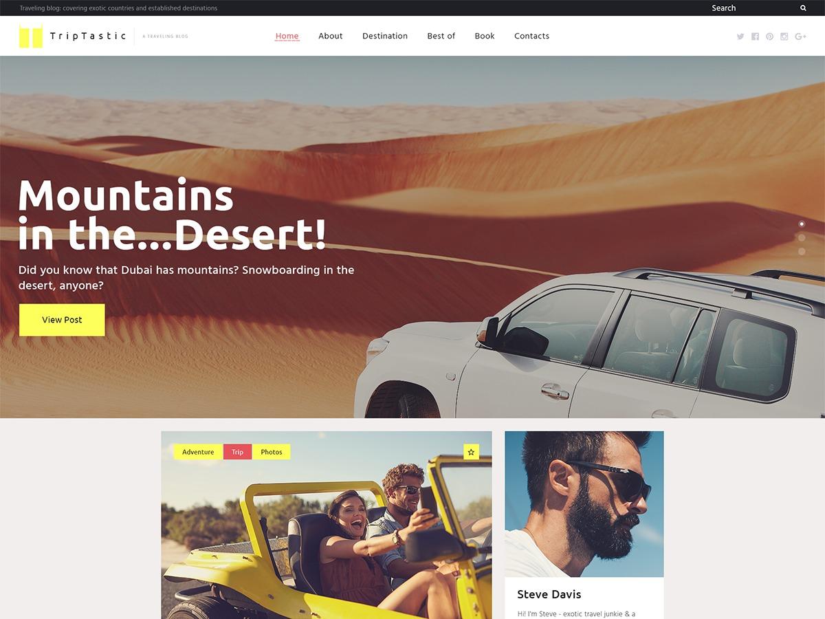 triptastic template WordPress