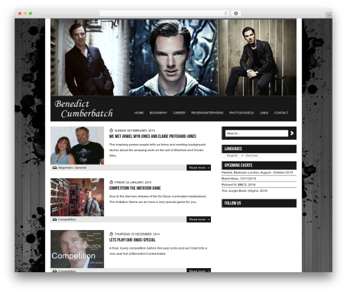 WordPress template Diabolik - benedict-cumberbatch.de