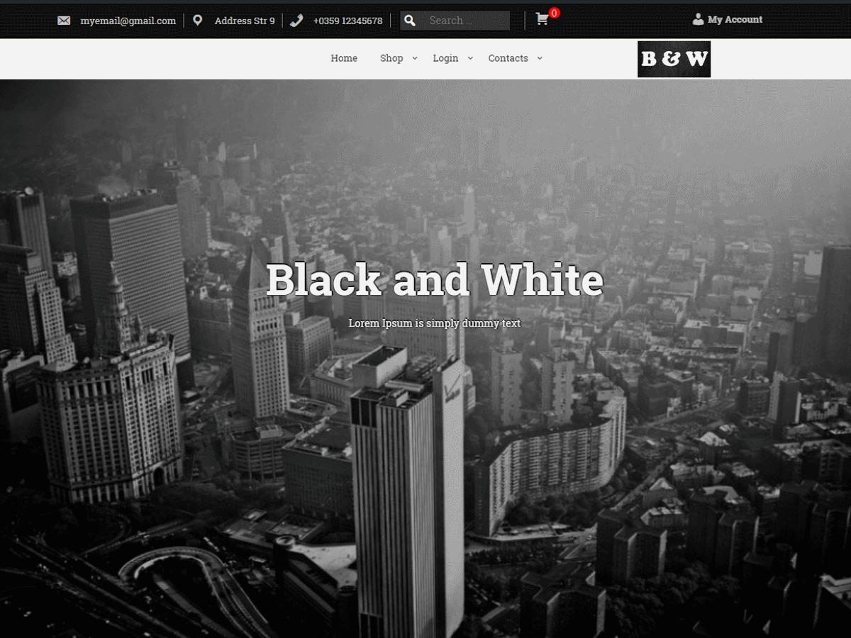 WordPress theme BAW