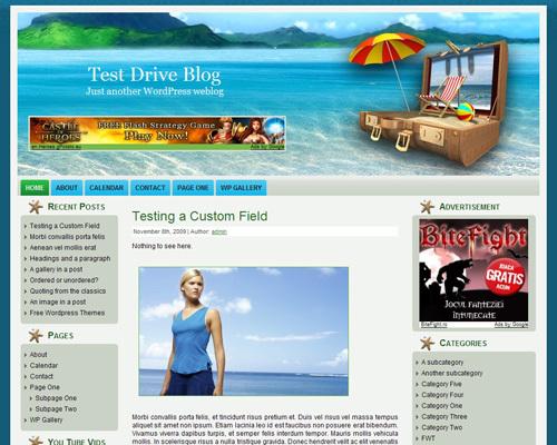 WordPress theme packed_vacations
