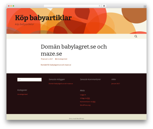 Best WordPress template Twenty Thirteen - babylagret.com