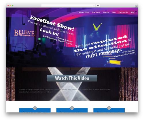 Divi WP template - believetheamazing.com