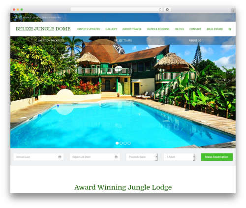 Leisure WordPress hotel theme - belizejungledome.com