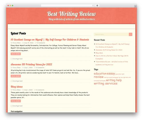 RetroTale WordPress theme - bestwritingreview.com