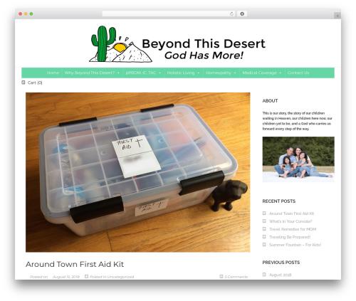 SornaCommerce template WordPress free - beyondthisdesert.com