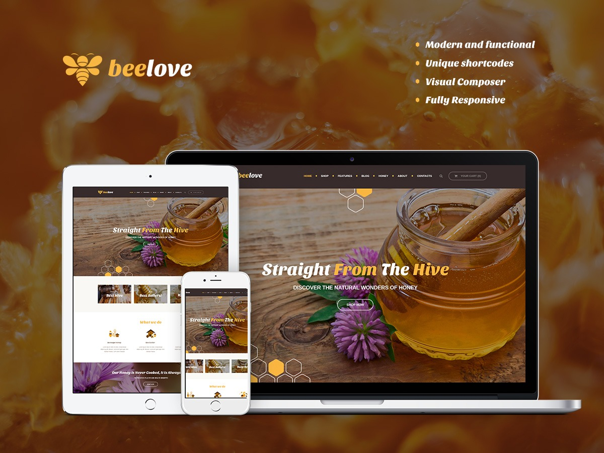 WordPress template Beelove