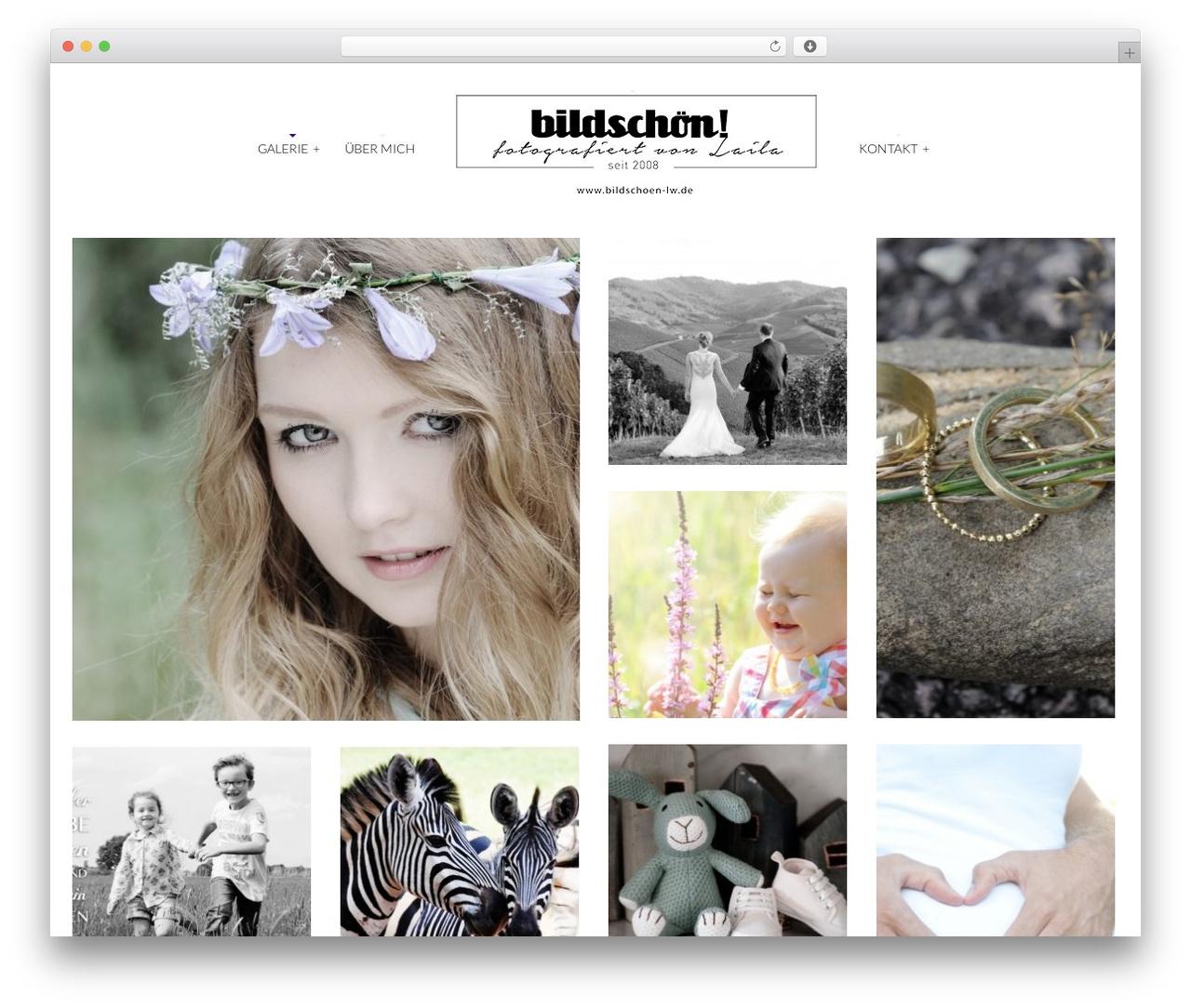 WordPress website template Tripod - bildschoen-lw.de