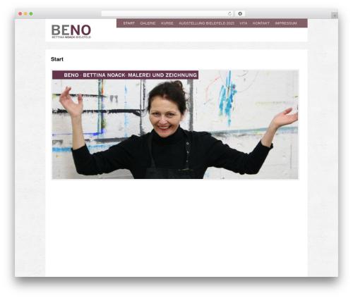 WordPress website template Yasmin - beno-bilder.de