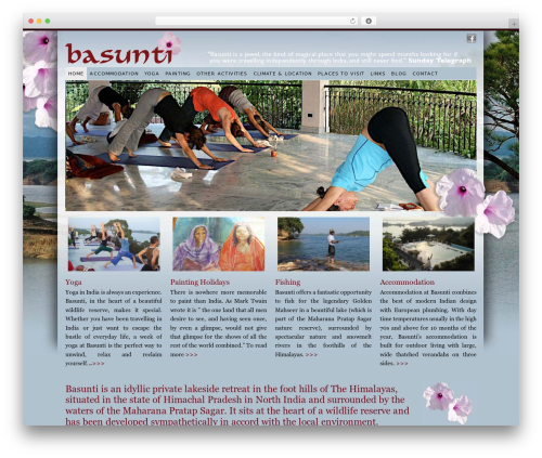 WP theme PlatformBase - basunti-yoga-india.co.uk