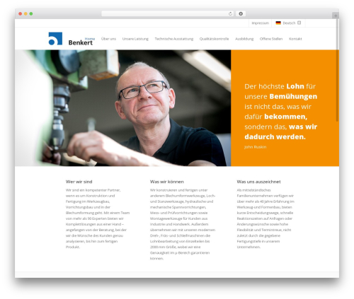 WZB Benkert WordPress theme - benkert-konstruktion.de