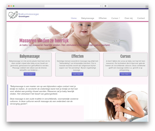 Customizr free WordPress theme - babymassage-groningen.nl