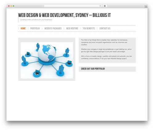 Hannari WordPress theme - billiousit.com