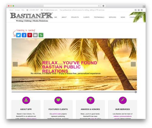 Jupiter best WordPress template - bastianpr.com