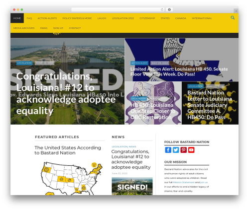 Massive News WordPress theme - bastards.org