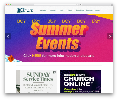 Peacemaker template WordPress - bethanychurch.tv