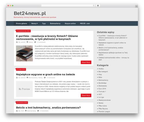Ribbon Lite free WordPress theme - bet24news.pl