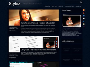 Stylez - Blue WordPress theme