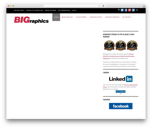 WordPress template Magazine - bigraphicsinc.com