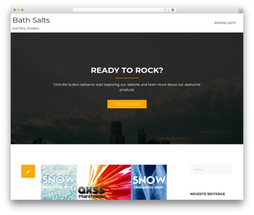 WordPress theme Rocked - bath-salts.biz