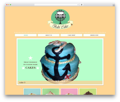 WordPress theme Sugar and Spice - babscakes.com