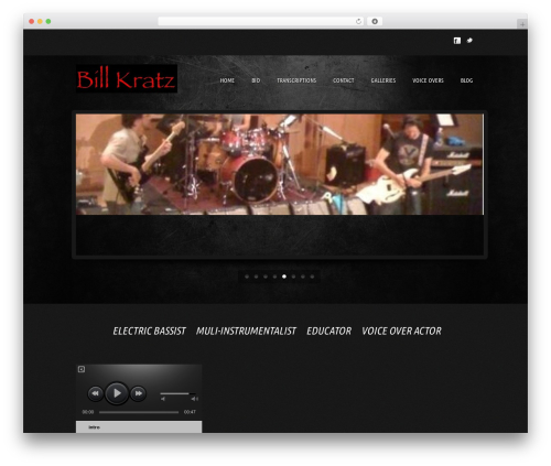 WP theme music pro - billkratz.net