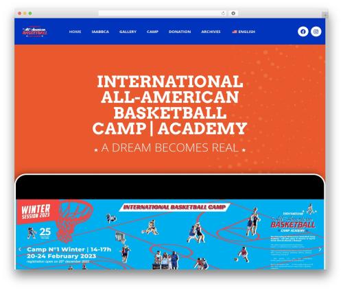 AllStar WP template - basketcamp.ch