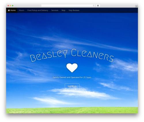Arcade Basic best free WordPress theme - beasleycleaners.com