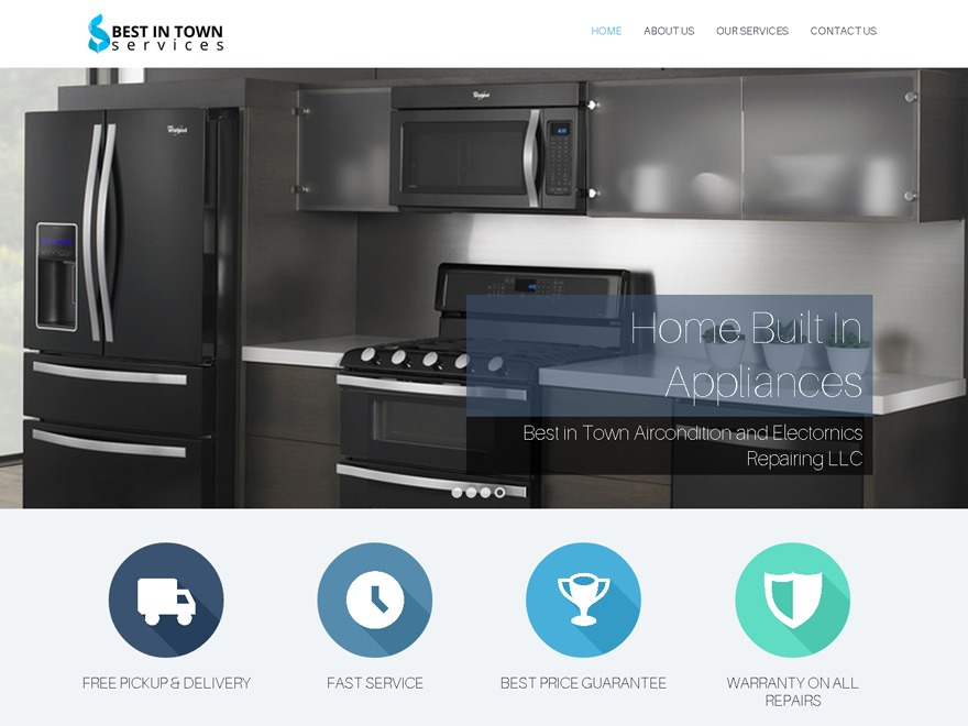 Best in Town Services WordPress page template