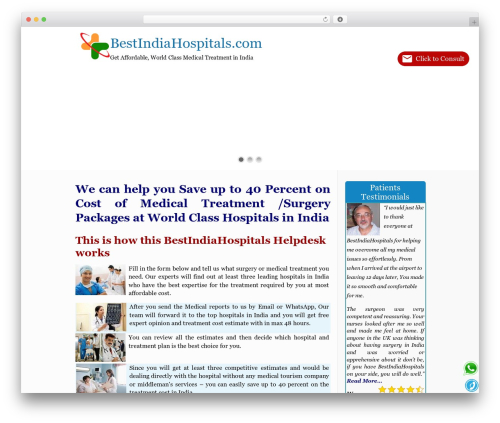 Betheme medical WordPress theme - bestindiahospitals.com
