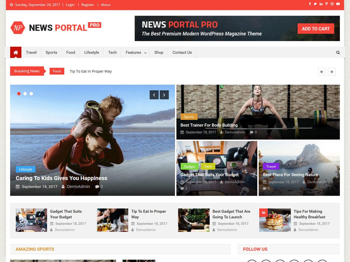 News Portal Pro WordPress blog template