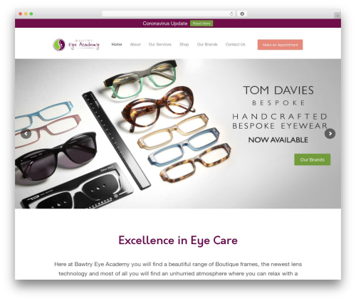 Optometry premium WordPress theme - bawtryeyeacademy.com
