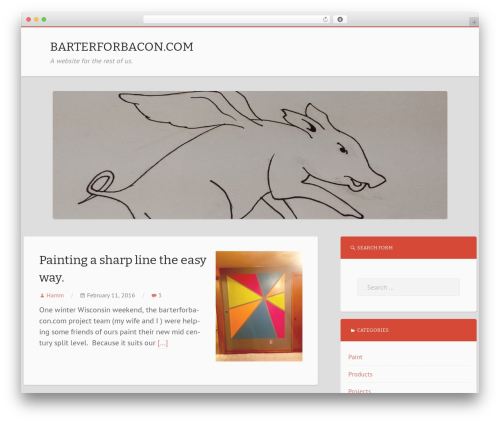 Theme WordPress Mixr - barterforbacon.com