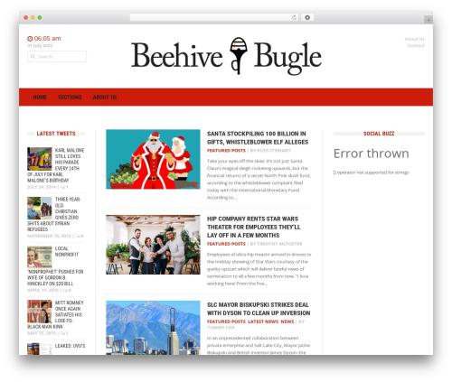 WordPress template Headline News - beehivebugle.com